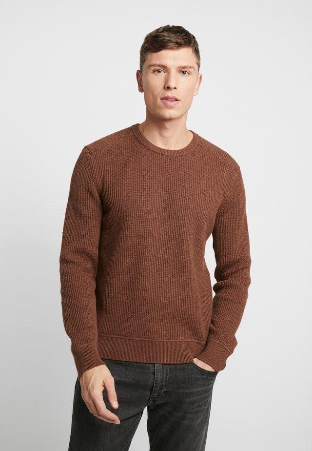 WAFFLE CREW - Jumper - brown heather