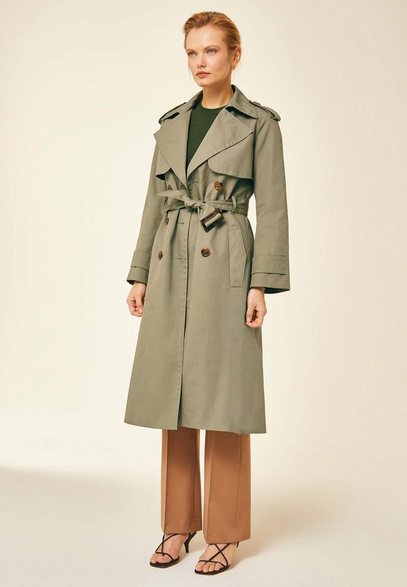 IVY & OAK - IVY & OAK - Trenchcoat - sage green