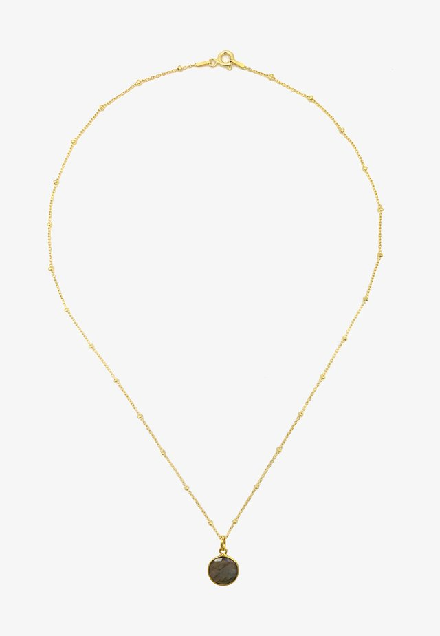 Necklace - gold grau