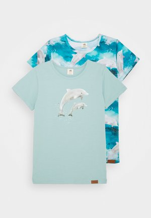 DOLPHINS 2 PACK - Print T-shirt - light blue