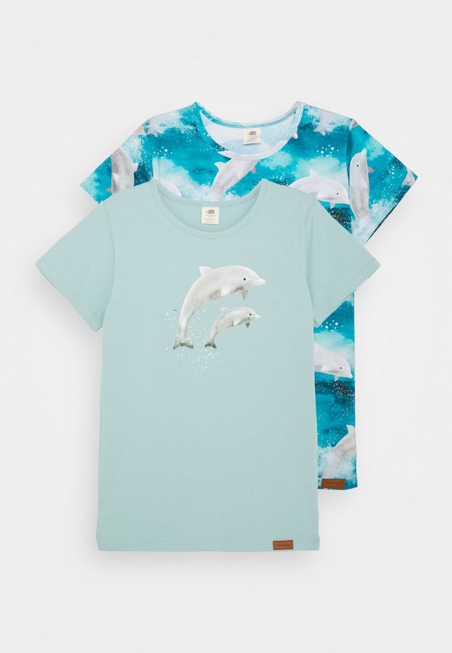 DOLPHINS 2 PACK - T-shirt con stampa - light blue
