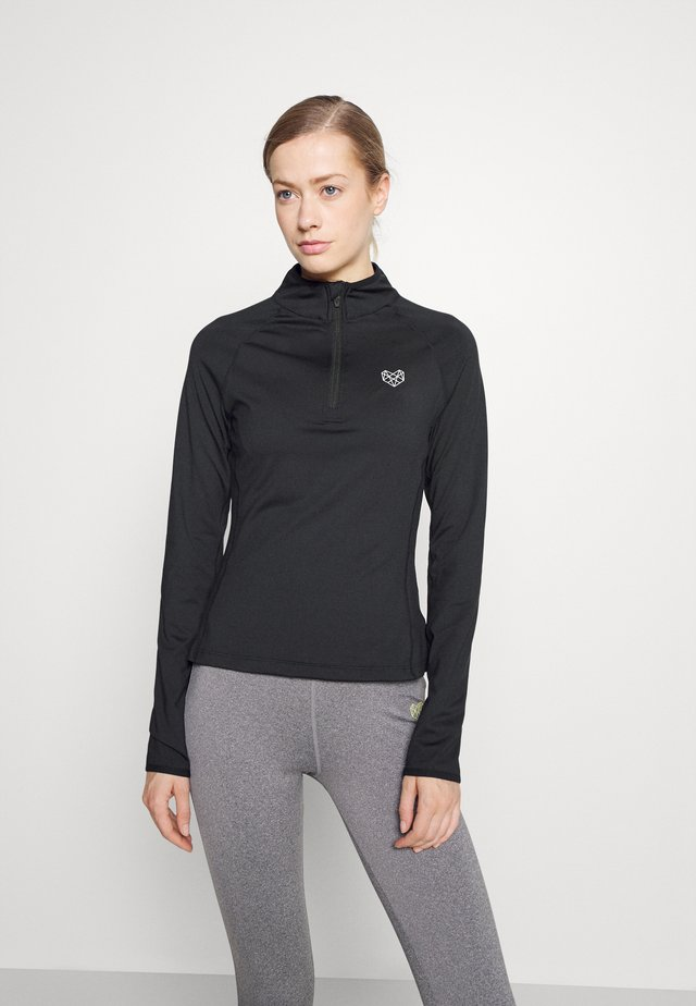 VISTA FITNESS - Long sleeved top - black