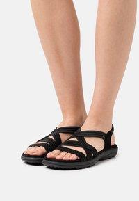 Skechers - REGGAE SLIM FIT - Sandals - black gore - 0