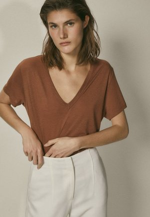 T-shirt basic - brown