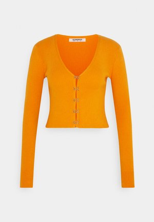 LONG SLEEVE CARDIGAN WITH FRONT FASTENING - Cardigan - orange