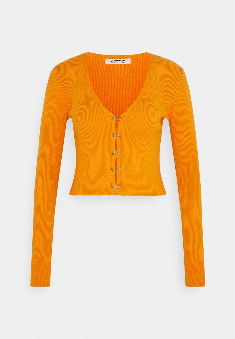 Glamorous - LONG SLEEVE CARDIGAN WITH FRONT FASTENING - Cardigan - orange