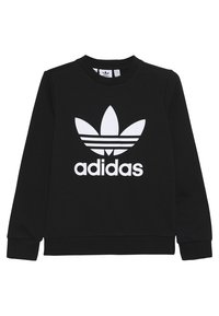 adidas Originals - TREFOIL CREW - Sweater - black/white