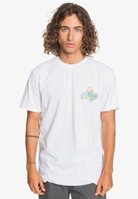 Quiksilver - AUTHENTIC FAKE - Print T-shirt - white - 0