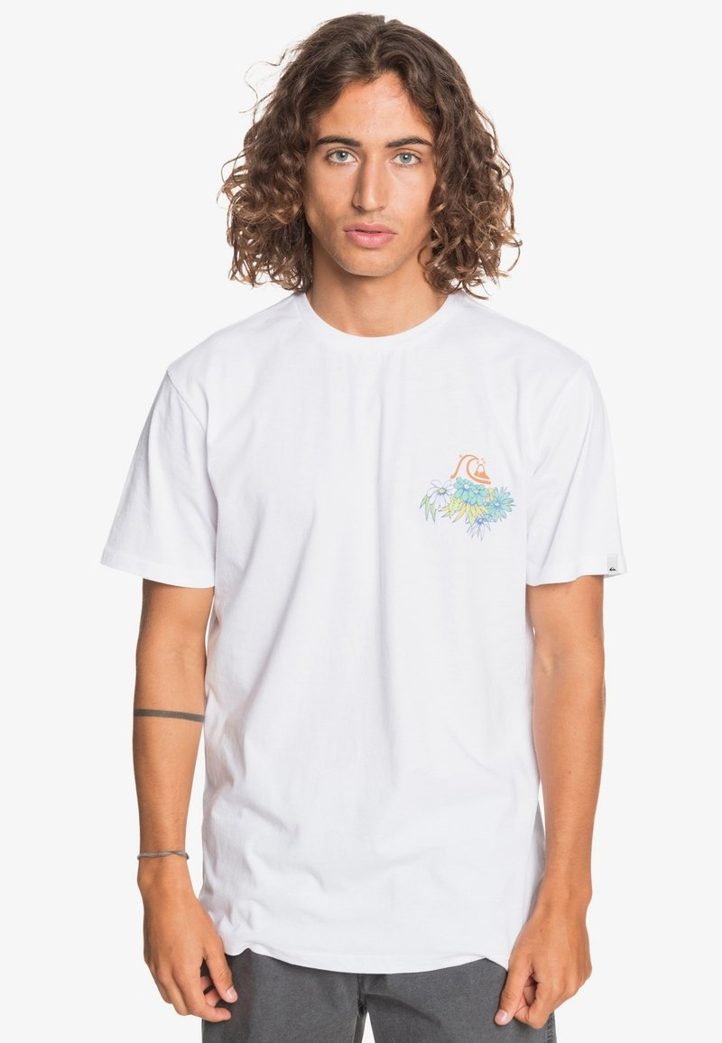 Quiksilver - AUTHENTIC FAKE - Print T-shirt - white