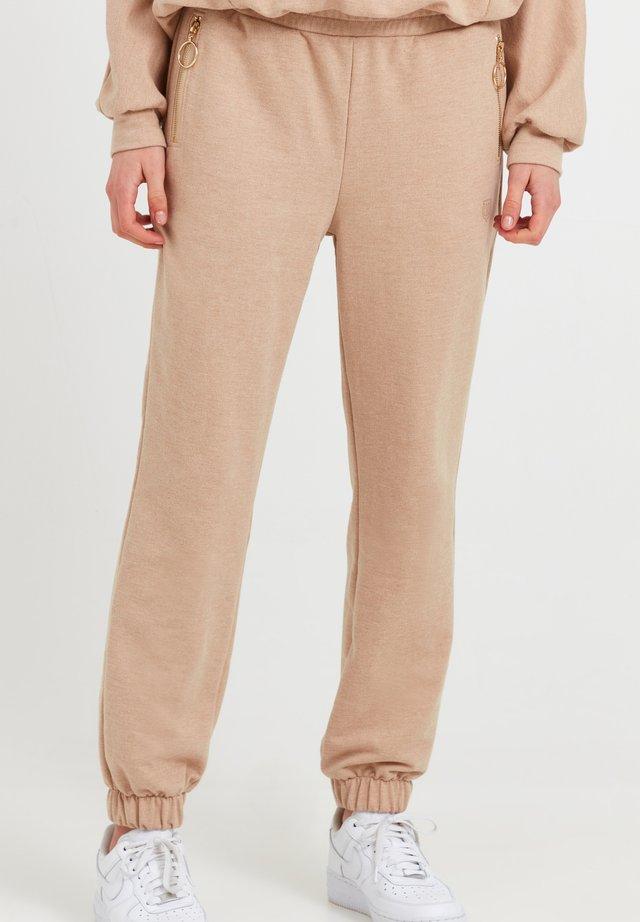 PZISABELL - Pantalon de survêtement - tannin melange
