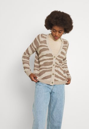 ONLNEELA LIFE CARDIGAN - Kardigan - toasted coconut chestnut and frosted almond