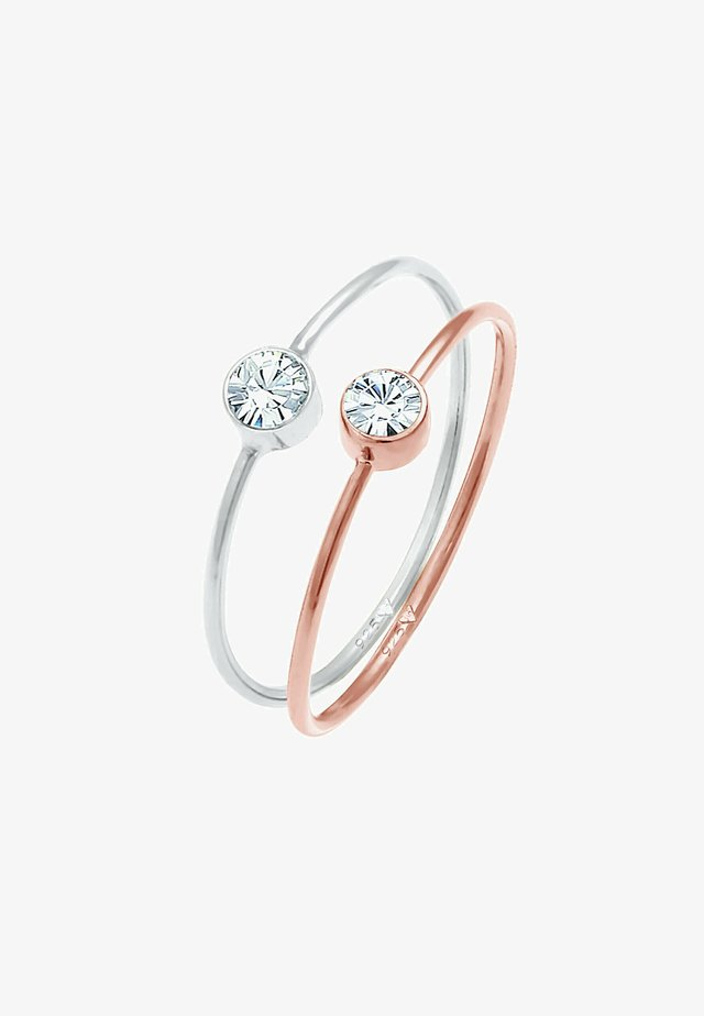 2-PACK - Ring - rose gold coloured