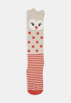 KIDS KNEESOCKS OWL 2 PACK - Knee high socks - kupfer