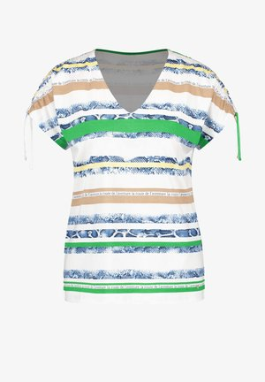 MIT PANNEAUX-PRINT - Print T-shirt -  white/green