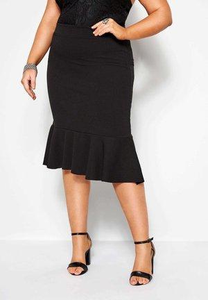FISHTAIL  - Pencil skirt - black