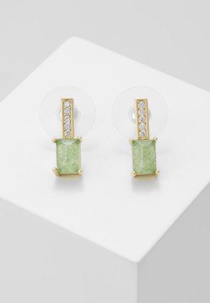 SHORT EAR - Earrings - gold-coloured/green