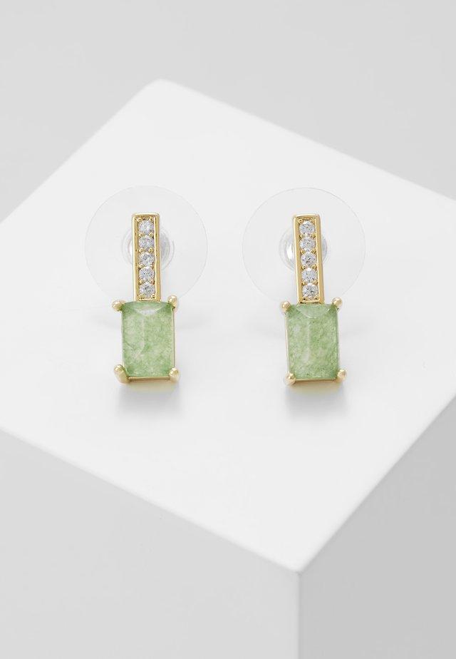 SHORT EAR - Boucles d'oreilles - gold-coloured/green