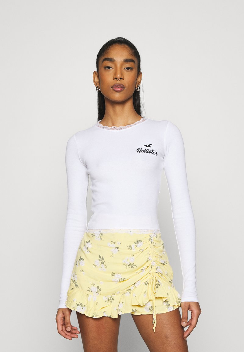 Hollister Co. - SLIM TREND - Long sleeved top - white