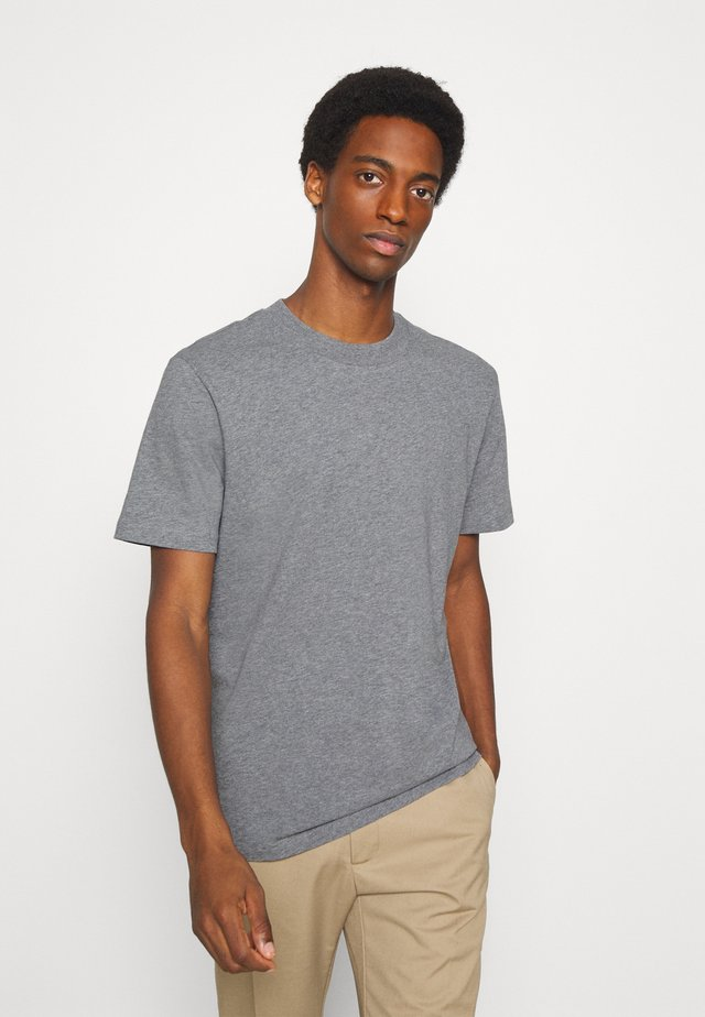 SLHRELAXCOLMAN O NECK TEE - T-shirt basique - medium grey melange