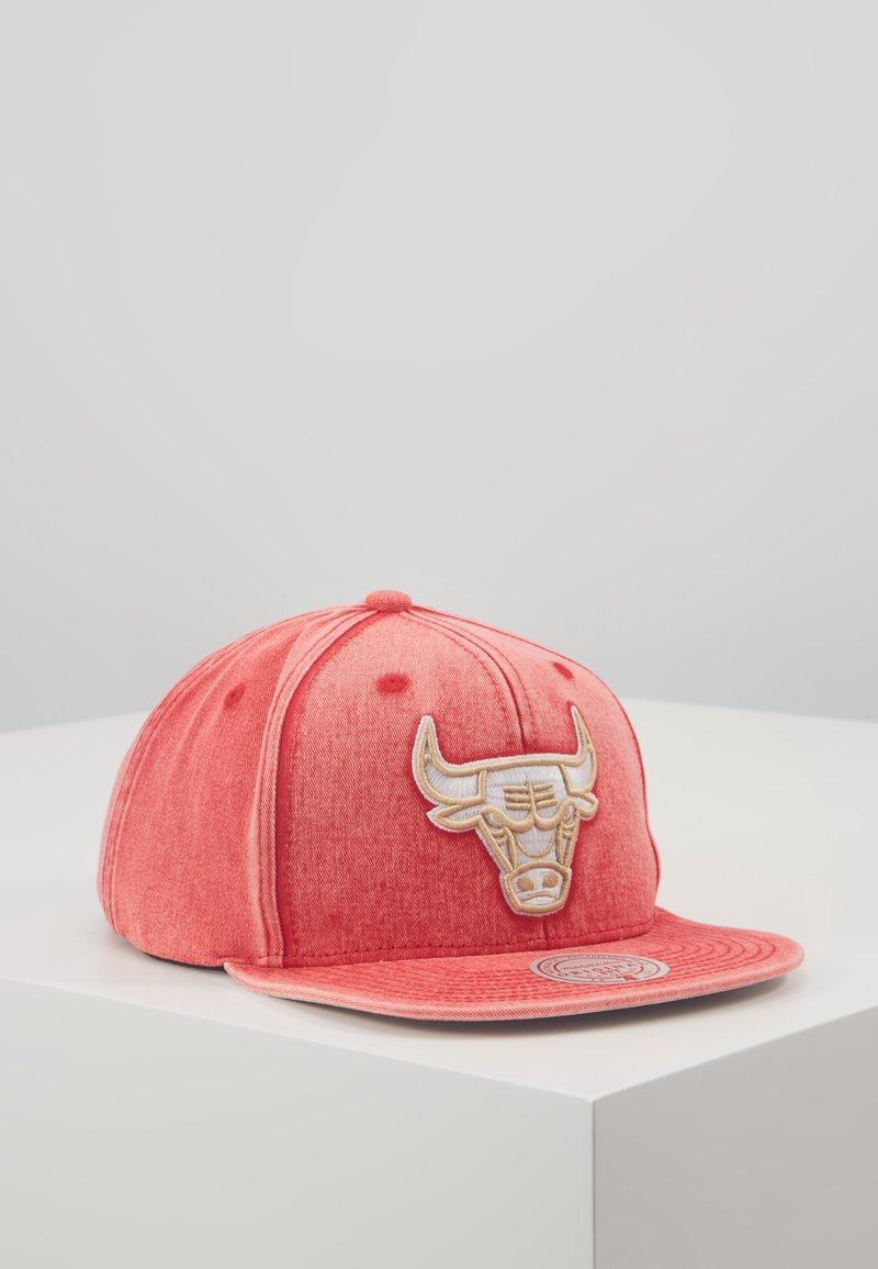 Mitchell & Ness - NBA CHICAGO BULLS SNOW WASHED NATURAL SNAPBACK - Keps - red