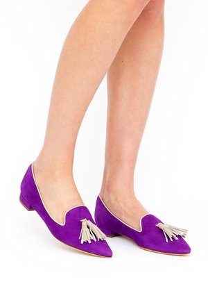 GIORGIA - Scarpe senza lacci - royal purple/ avana