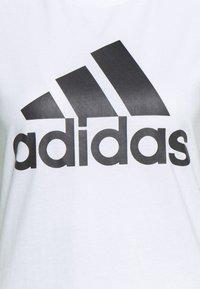 adidas Performance - T-shirt print - white/black - 4