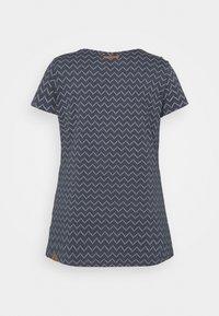 Ragwear Plus - ZIG ZAG - Print T-shirt - denim blue - 8