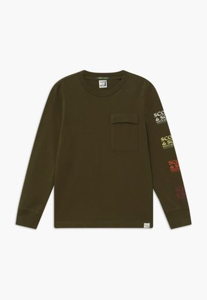 LONG SLEEVE TEE IN ORGANIC COTTON QUALITY WITH ARTWORKS - Langarmshirt - military