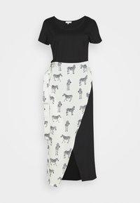Never Fully Dressed - BLACK ZEBRA LOUNGE WRAP DRESS - Day dress - black - 4
