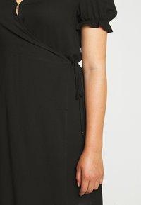 Cotton On Curve - WRAP MIDI DRESS - Day dress - black - 6