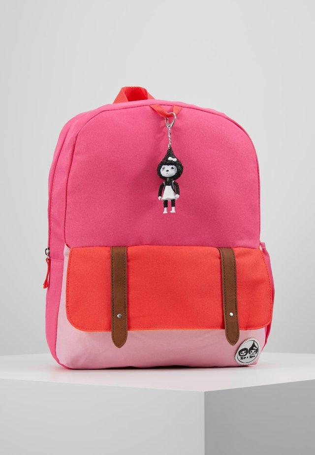 Rucksack - hot pink colour block