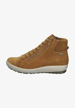 Sneakersy wysokie - cognac/braun