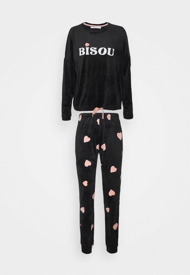 BISOU SET - Pyžamo - black