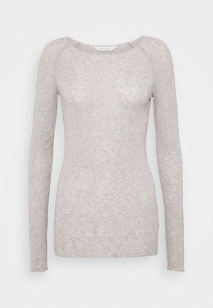 AMALIE SOLID - Trui - light grey melange