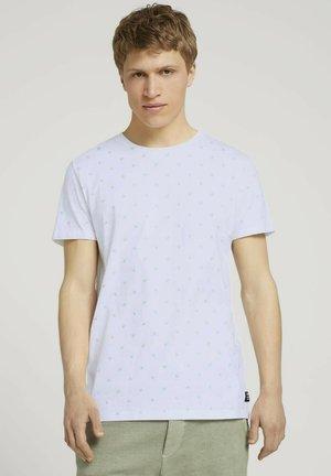 T-shirts print - white mini palm leaf print