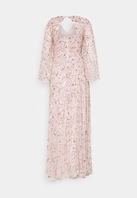 Maya Deluxe - ALL OVER 3D EMBELLISHED DRESS WITH BELL SLEEVE - Iltapuku - pearl pink - 7