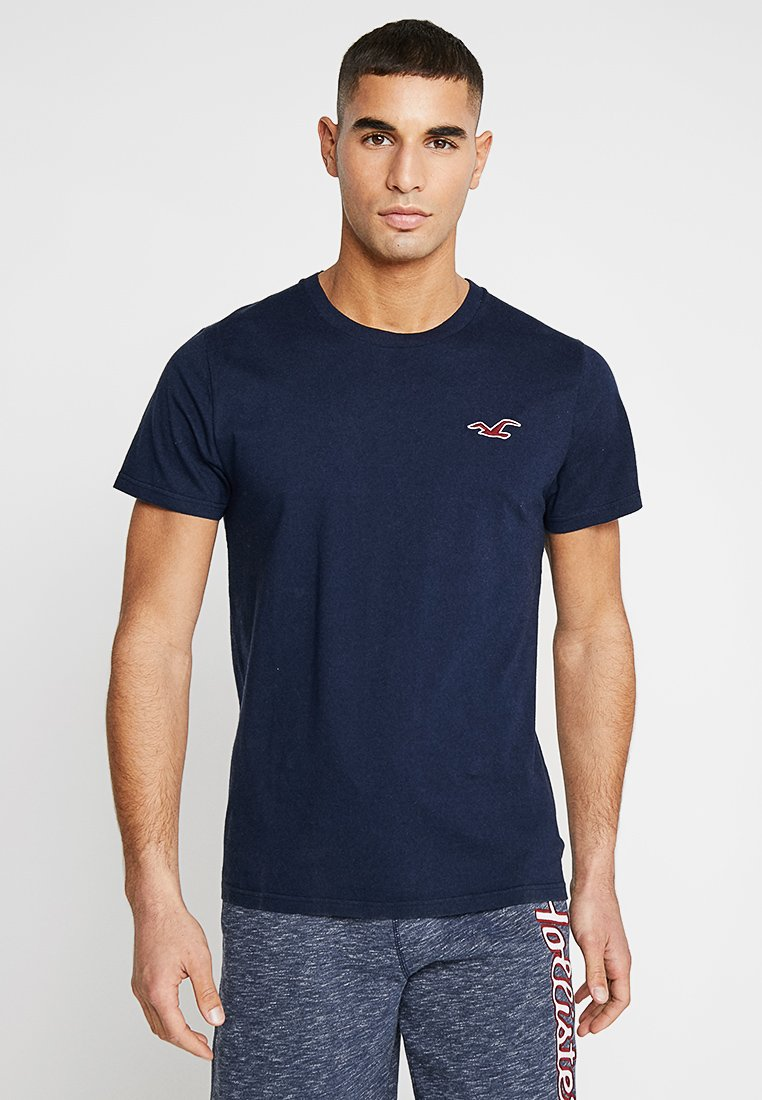 Hollister Co. - EXPLODED ICON CREW  - T-shirt basique - navy