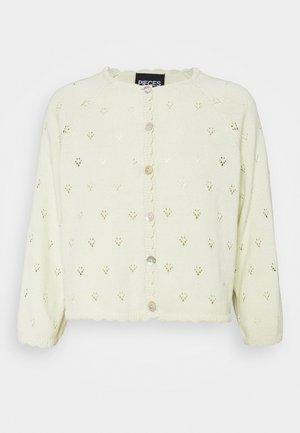 PCTRULY - Cardigan - white jade