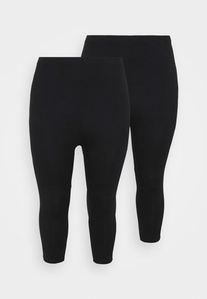 CROPPED - Leggings - Trousers - black
