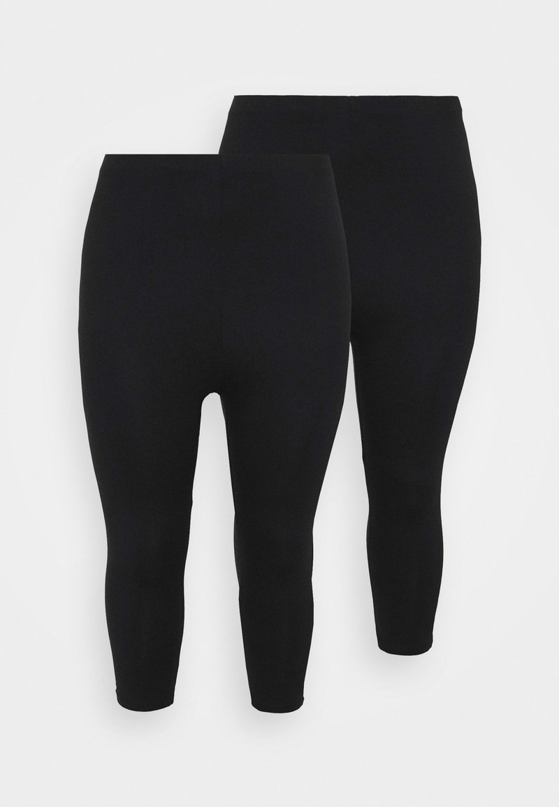 Even&Odd Curvy - CROPPED - Leggings - Trousers - black