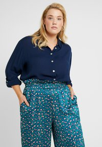 CAPSULE by Simply Be - Button-down blouse - navy - 0