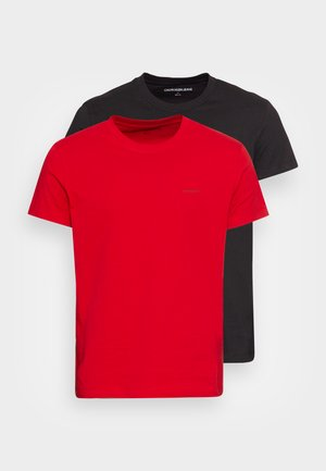 SLIM 2 PACK - T-shirt - bas - salsa/black
