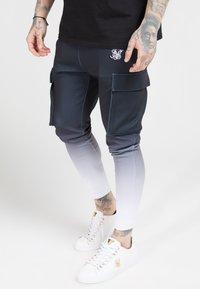 SIKSILK - POLY ATHLETE - Pantaloni cargo - black/white - 4