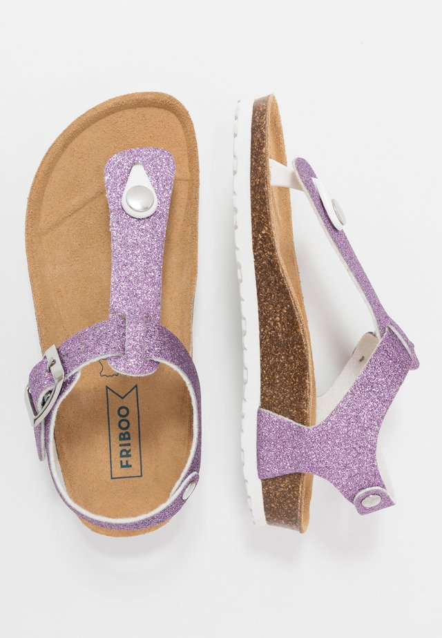 T-bar sandals - lilac