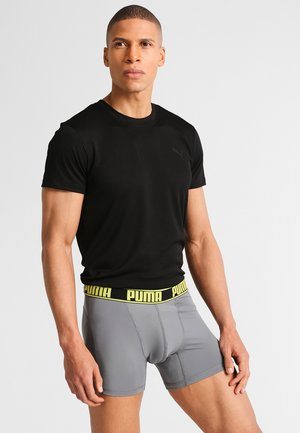 ACITVE BOXER 2 PACK - Shorty - grey/yellow