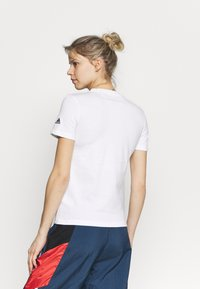 adidas Performance - Print T-shirt - white/black - 2