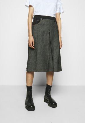 A-lijn rok - black denim/black
