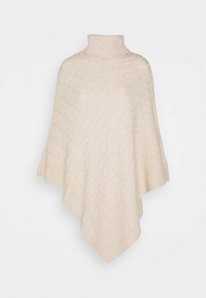 RUBY CABLE KNIT PONCHO - Cape - oatmeal