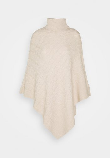 RUBY CABLE KNIT PONCHO - Poncho - oatmeal