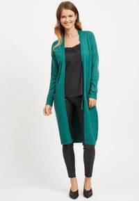 Vila - VIRIL LONG CARDIGAN  - Cardigan - petrol - 1